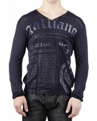 Черный пуловер John Galliano