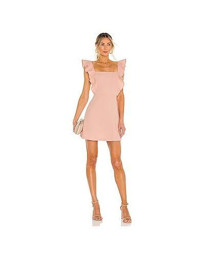 Розовое платье мини на бретелях с оборками Bcbgeneration