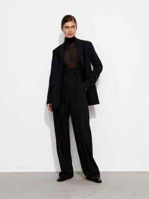 Шерстяные брюки - черные 12storeez