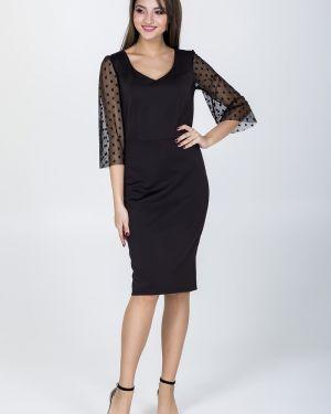 Платье в горошек сетчатое Valentina