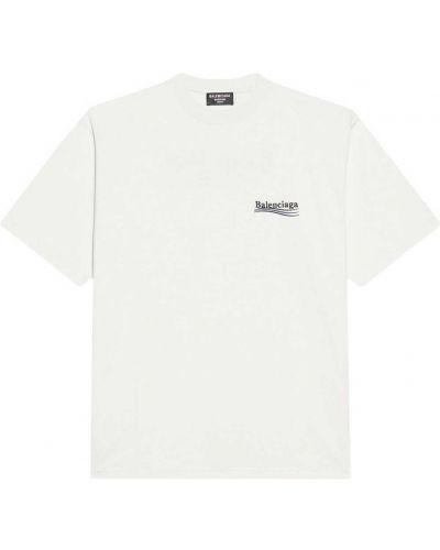 T-shirt bawełniana - biała Balenciaga