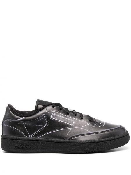 Кожаные черные кроссовки на шнуровке Maison Margiela X Reebok