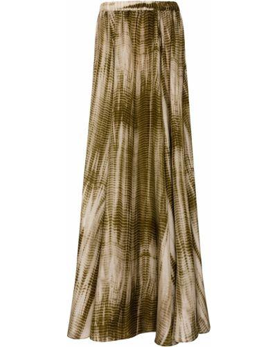 Шелковая зеленая юбка Gerard Darel