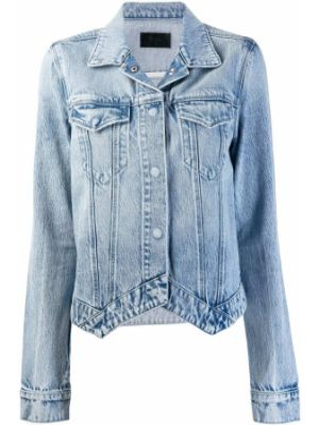 Синяя джинсовая куртка с манжетами на пуговицах Rta
