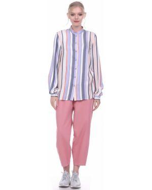 Рубашка с манжетами на пуговицах с вырезом круглая Lautus