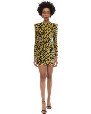 Платье макси с длинными рукавами - желтое Alex Perry