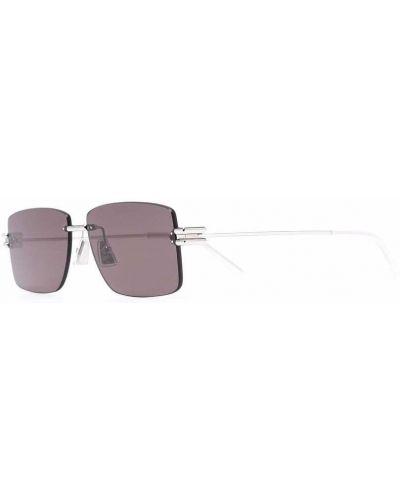 Okulary srebrne - różowe Bottega Veneta Eyewear