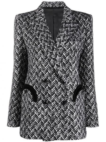Шерстяной черный пиджак с карманами на пуговицах Blazé Milano