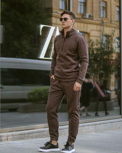 Теплый спортивный костюм - коричневый Rozetka
