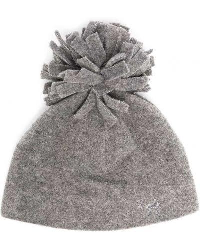 Прямая серая шапка бини с помпоном из вискозы Il Gufo