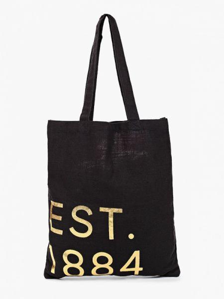 Хлопковая черная сумка шоппер с камнями Marks & Spencer