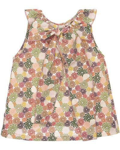 Хлопковая рубашка с воротником без рукавов La Stupenderia