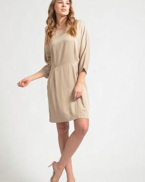 Платье из вискозы - бежевое Just Valeri