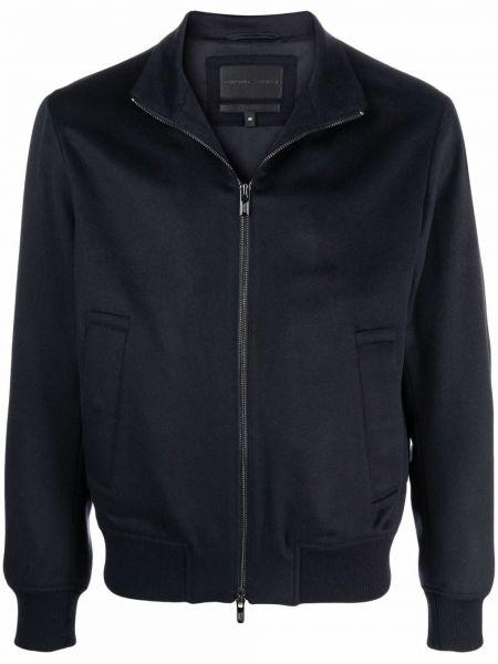 Длинная куртка - синяя Emporio Armani