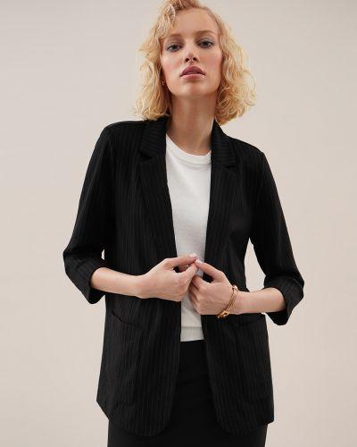 Черный пиджак из вискозы O'stin
