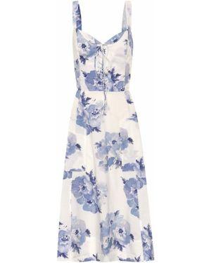 Летнее платье миди с цветочным принтом Polo Ralph Lauren