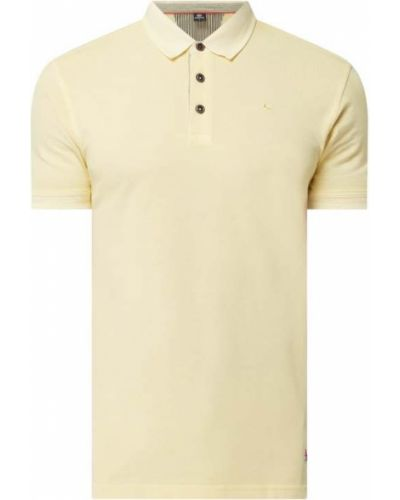 Żółty t-shirt bawełniany Lerros