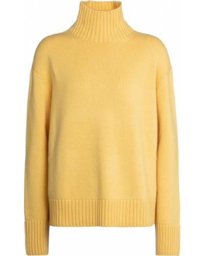 Żółty z kaszmiru sweter Loro Piana