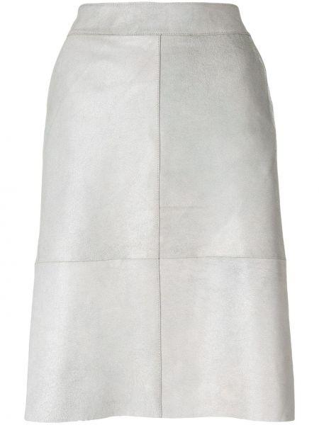 Прямая юбка миди на молнии с поясом в рубчик Vanderwilt