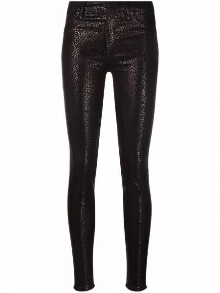 Лаковые брюки - черные 7 For All Mankind