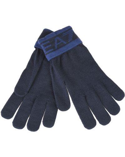 Перчатки акриловые синий Ea7 Emporio Armani