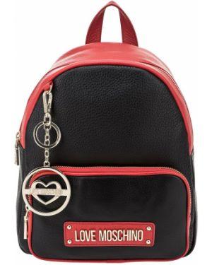 Кожаный рюкзак на молнии Love Moschino