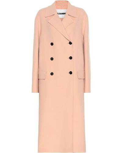 Пальто розовое желтое Jil Sander