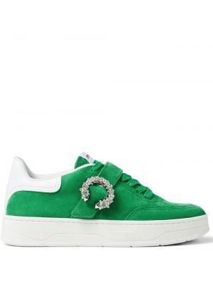 Зеленые кроссовки металлические Jimmy Choo