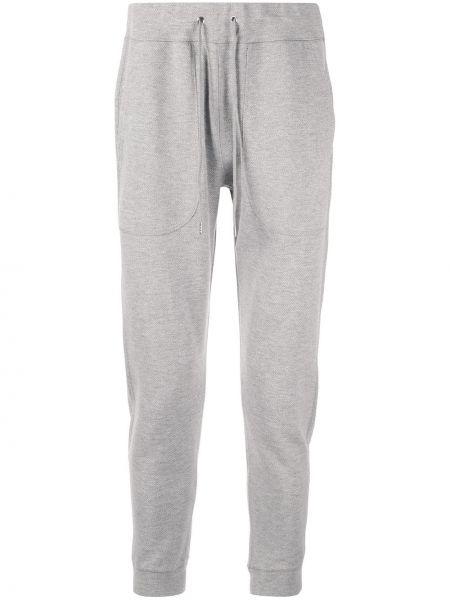 Спортивные серые спортивные брюки с карманами на шнурках Loveless
