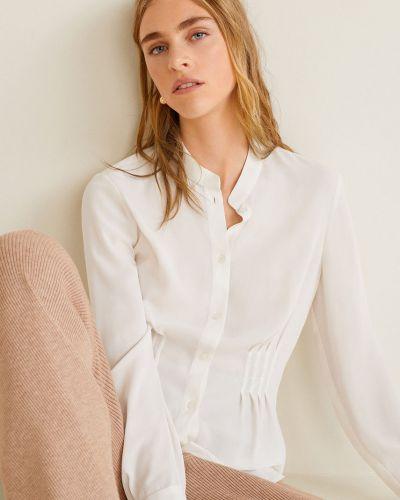 Блузка с длинным рукавом с воротником-стойкой в клетку Mango