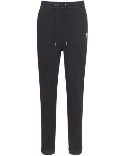 Czarne spodnie dresowe bawełniane Moncler