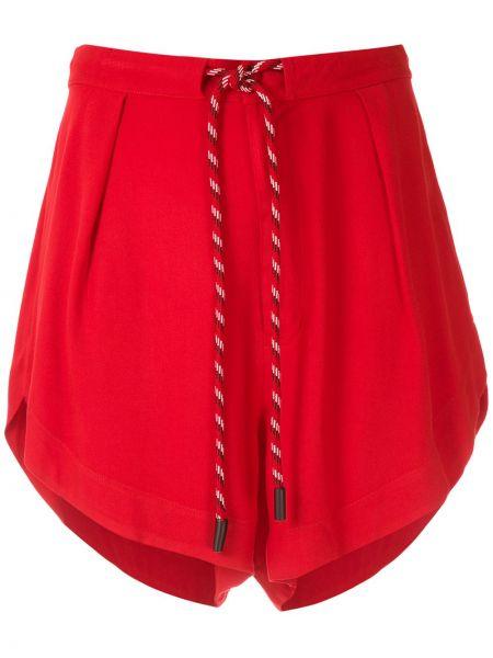 Прямые красные с завышенной талией шорты Osklen