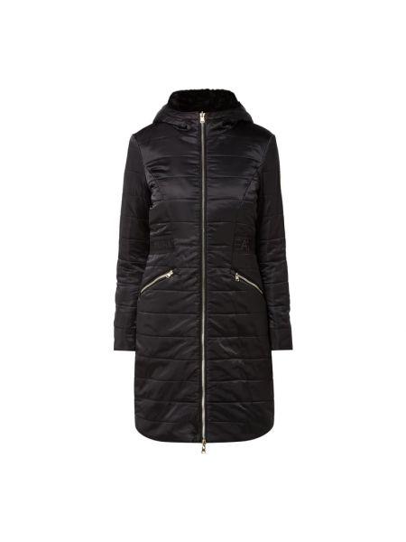 Czarny płaszcz z kapturem Ea7 Emporio Armani