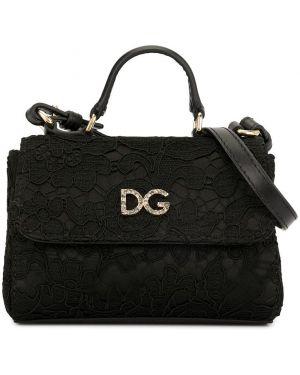Черная сумка Dolce & Gabbana Kids