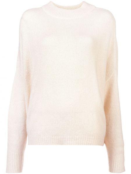 Beżowy z kaszmiru sweter z długimi rękawami Dusan