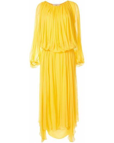 Желтое приталенное расклешенное платье By. Bonnie Young