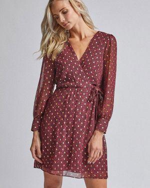 Платье бордовый прямое Dorothy Perkins