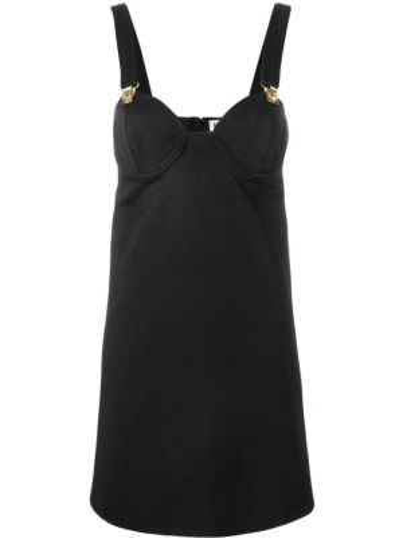 Платье на бретелях - черное Versus