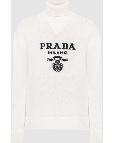 Бежевый кашемировый свитер Prada