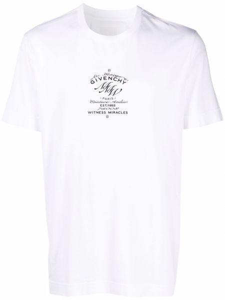 Белая футболка с круглым вырезом Givenchy