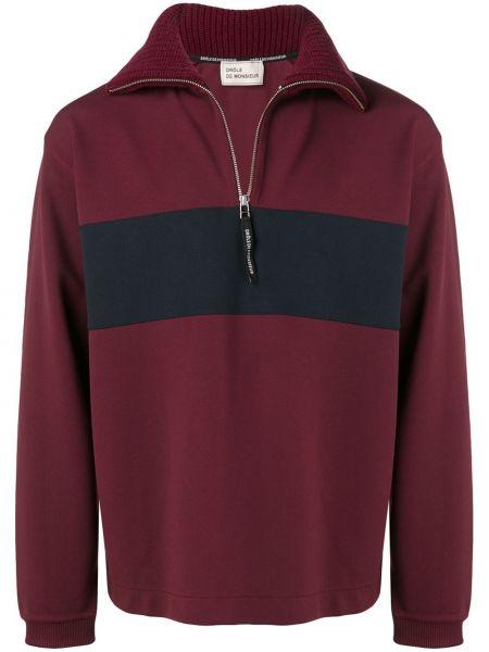 Klasyczny czerwony sweter bawełniany Drole De Monsieur