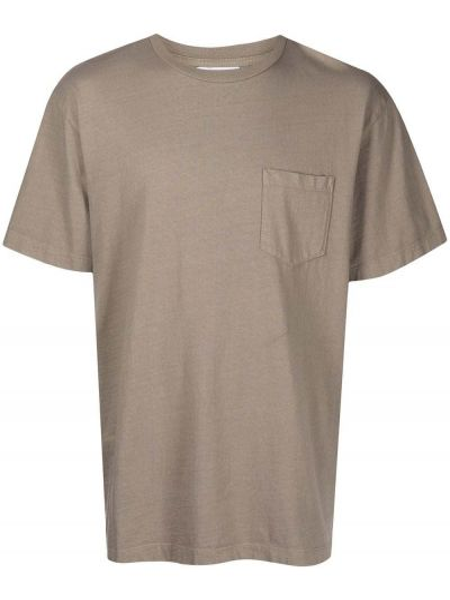 T-shirt bawełniana - beżowa John Elliott