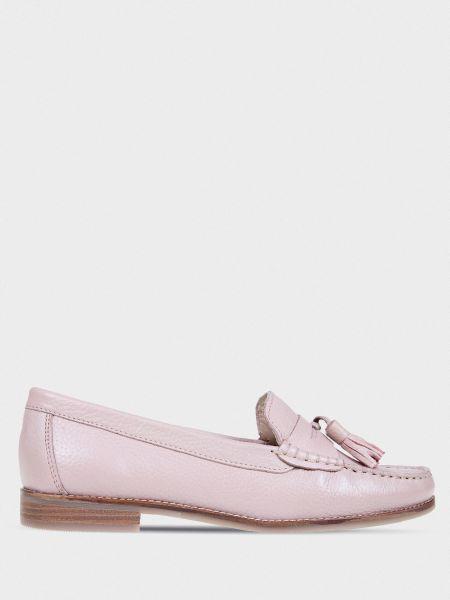 Кожаные туфли - розовые Braska
