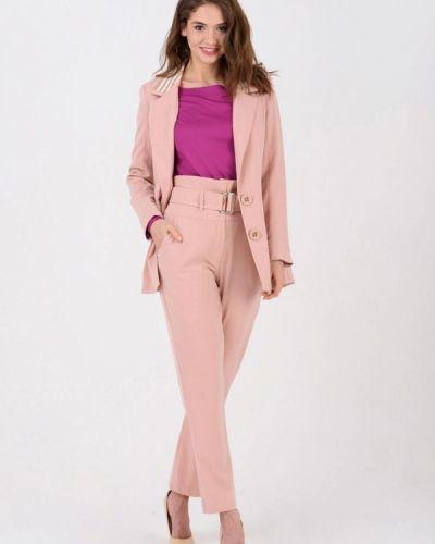 Брючный костюм розовый Ricamare