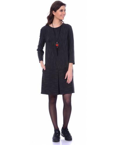 Деловое платье платье-сарафан из вискозы Lautus