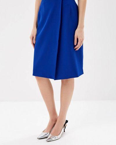 Юбка карандаш синяя Royal Elegance