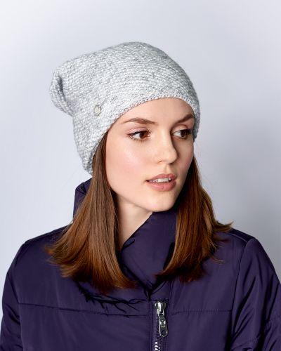 Шерстяная шапка бини - серая Baon