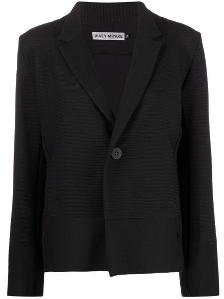 Прямой черный удлиненный пиджак Issey Miyake
