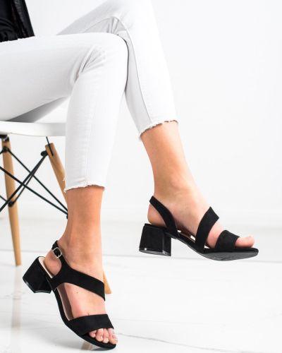 Sandały na niskim słupku - czarne Kylie