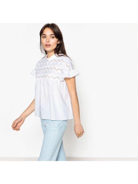 Блузка с короткими рукавами - белая Best Mountain